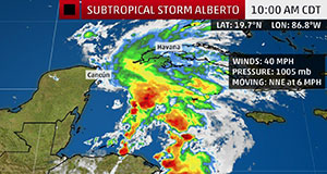 Subtropical Storm Alberto to close Estuarium, DISL offices
